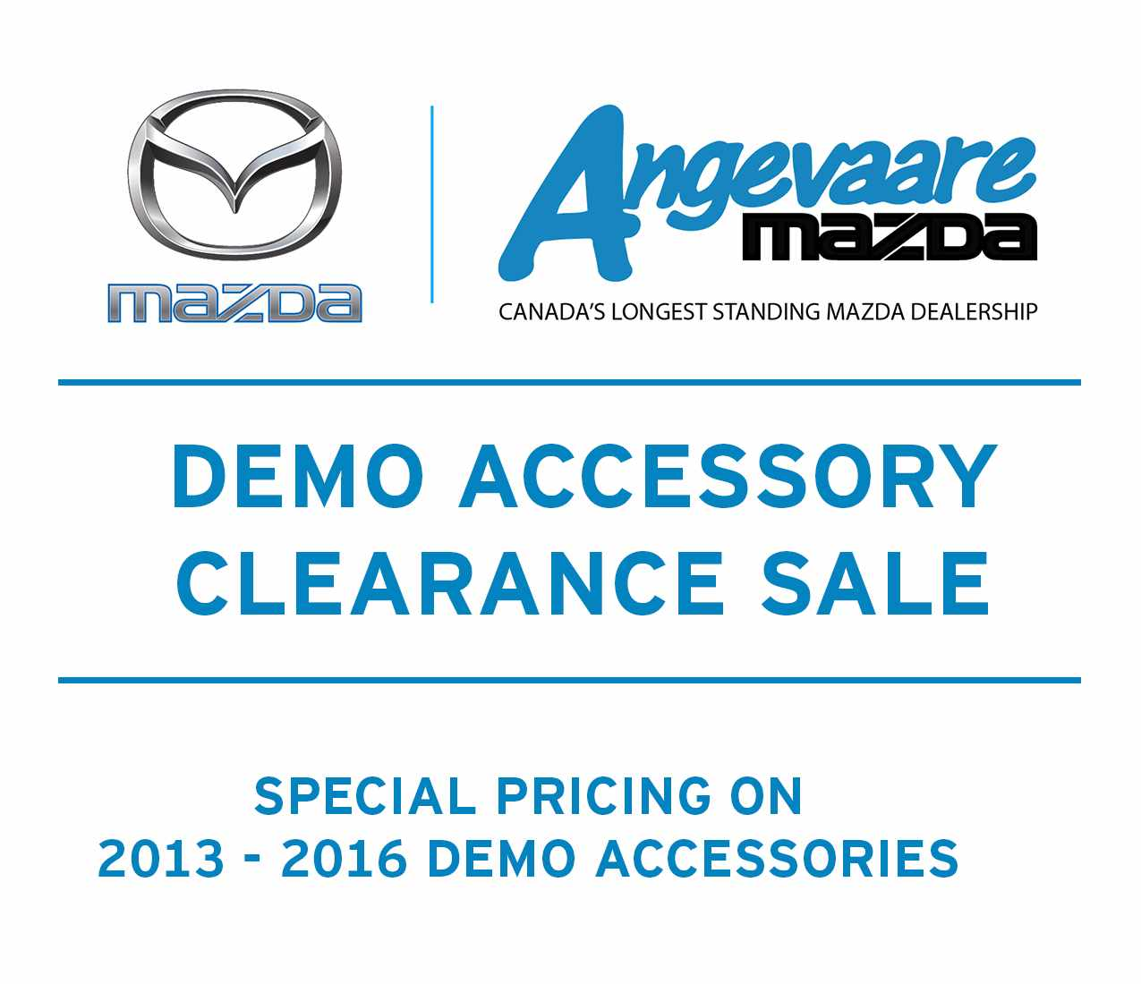 Demo Accessorry Clearance Sale - Special Pricing on 2013 -2016 Accessories