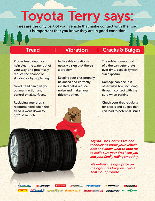 Tire Tread Vibration, Cracks & Bulges
