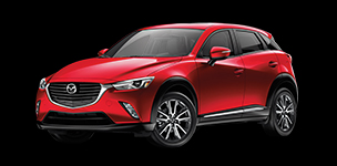 An image of the new Mazda CX-3, with i-ACTIV AWD.