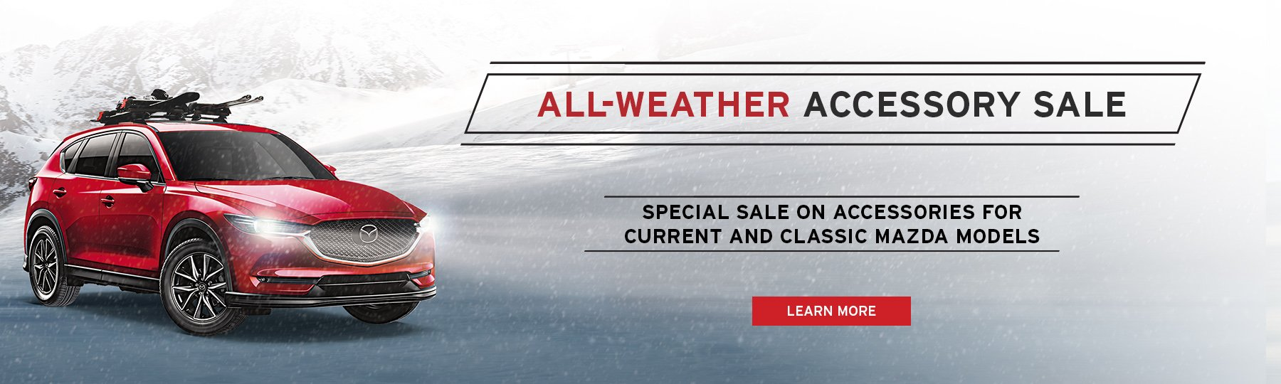 The Angevaare Mazda All- Weather Accessory Sale