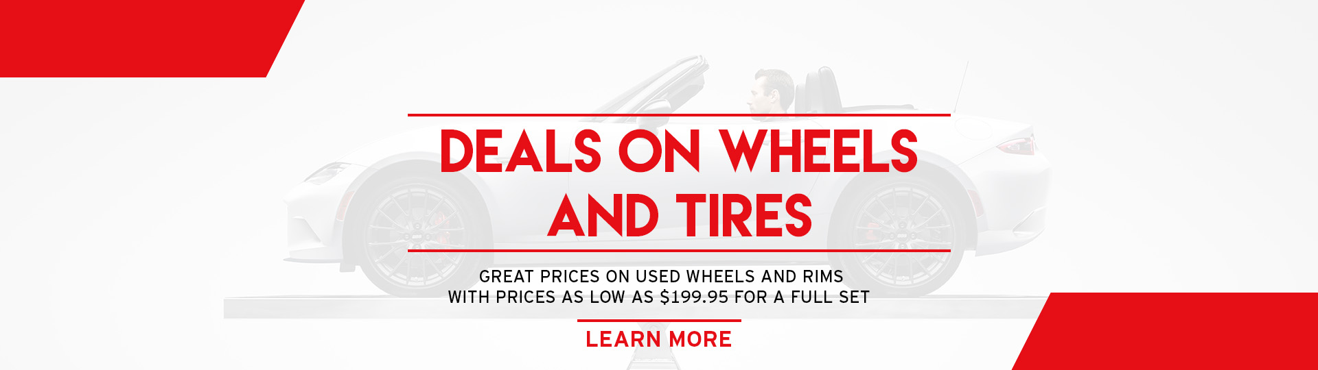 Deals on Wheels and Tires at Angevaare Mazda