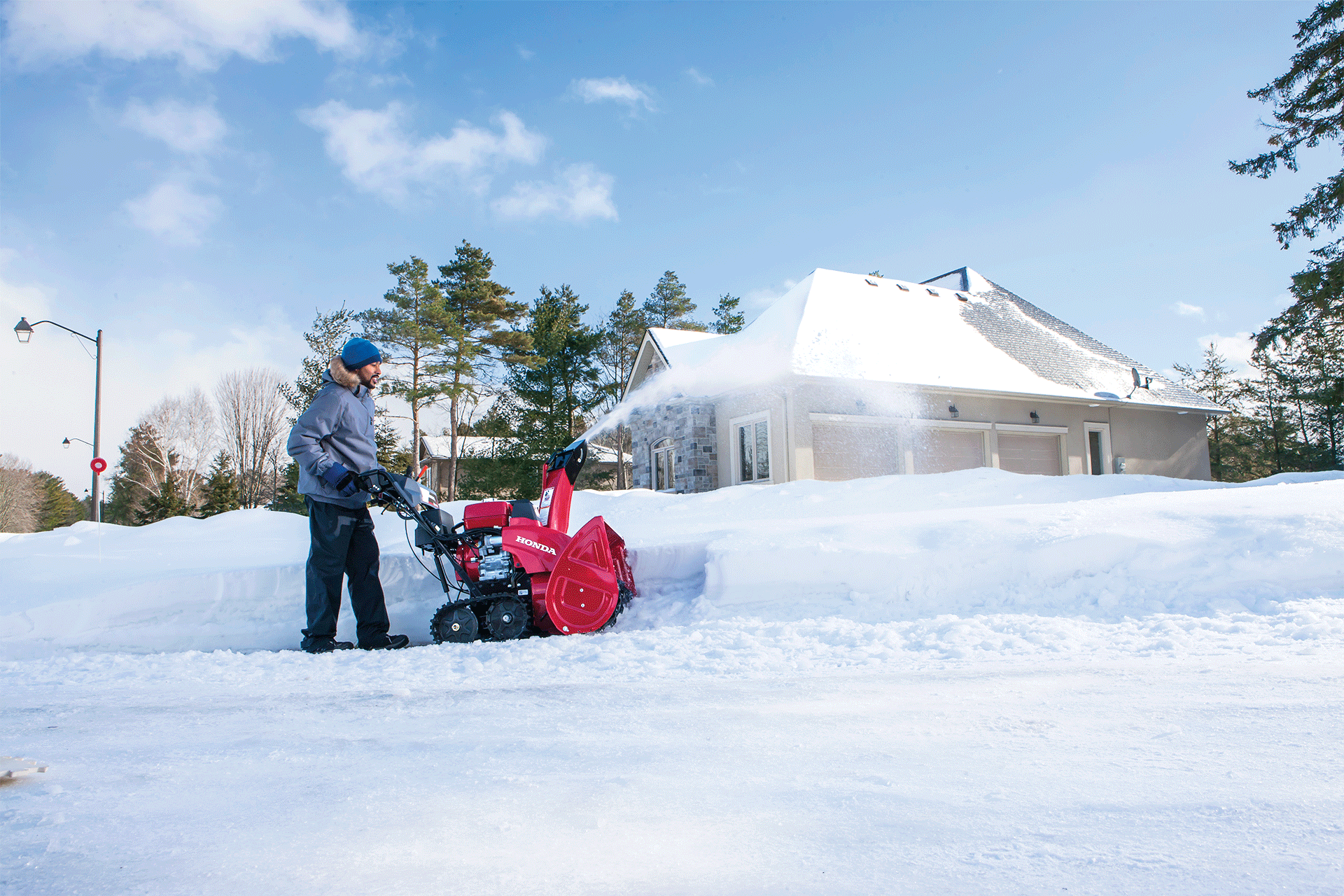 Make Everyday Life Easy With A Honda Snowblower. Single Stage   Image