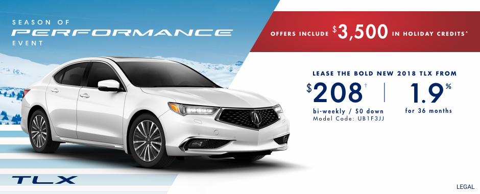2018 Acura TLX offer in Kingston