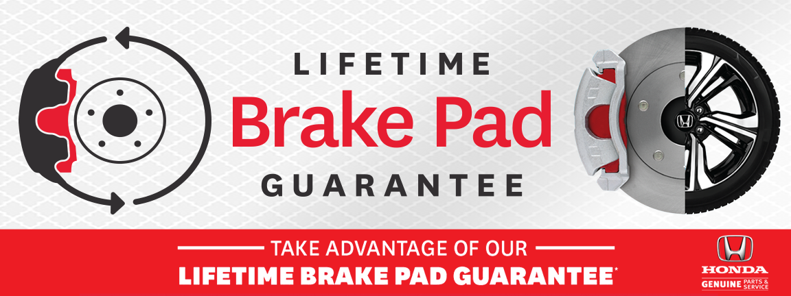 <strong>Honda Lifetime Brake Pad Guarantee</strong> - Image