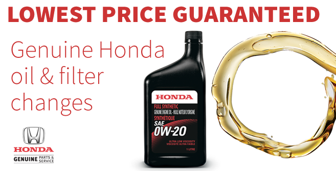 Lowest Price Guarantee Genuine Honda Oil Changes - Image