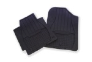 2011-2013 Elantra Sedan All-Weather Mats – specially fitted to your car with retainer hooks to keep mats in place - Image