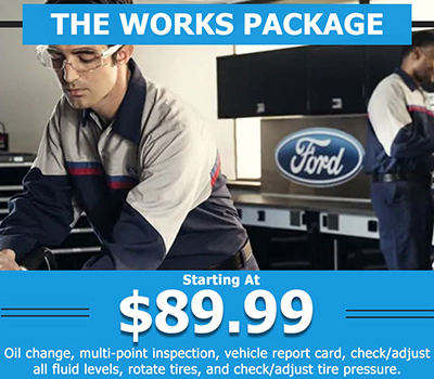 THE WORKS PACKAGE <br> Starting At $89.99 - Image