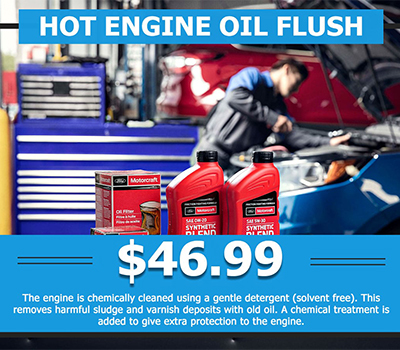 Hot Engine Oil Flush <br> $46.99 - Image