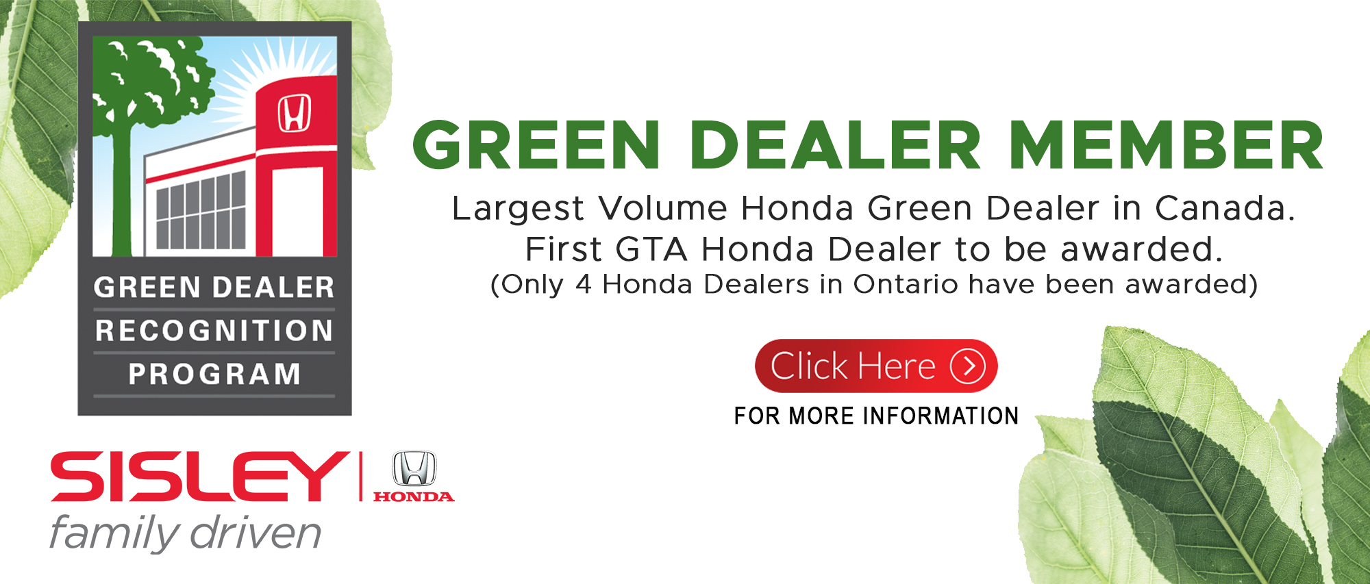 Green Dealer Recognition Award