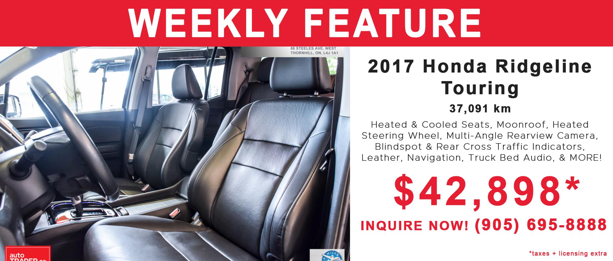 Sisley Honda Pre Owned Inventory Toronto On