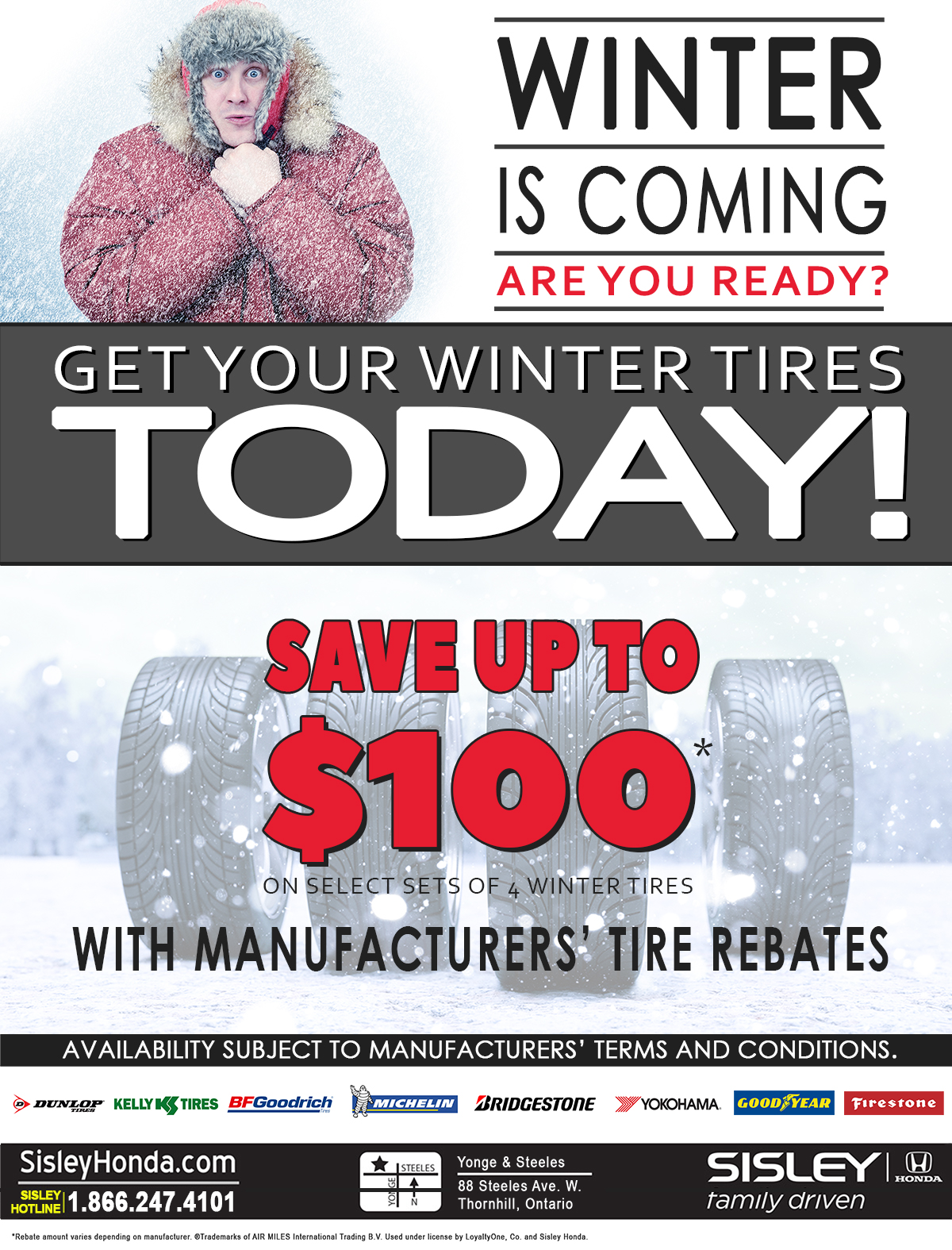 Sisley Honda Winter Tire Promotion