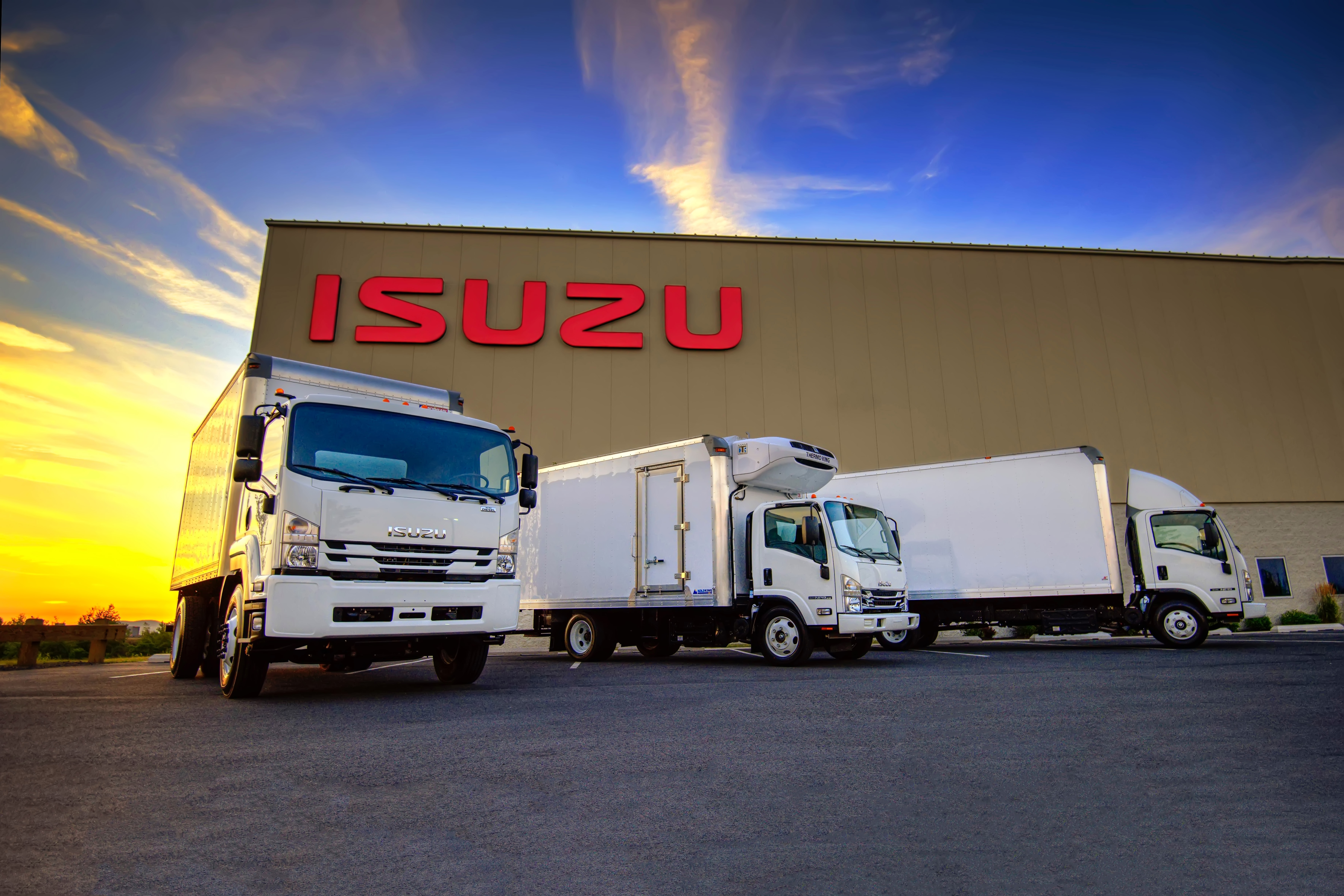 Isuzu Trucks in front of Isuzu