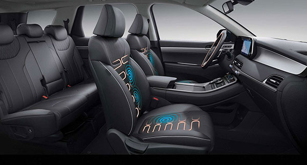 Heated front seats and steering wheel, plus ventilated front seats