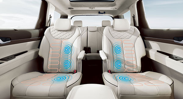 Heated and ventilated second-row seats