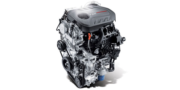 2.0L Turbocharged GDI engine with 8-speed automatic transmission