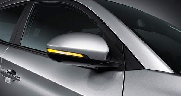 Heated side mirrors with available LED side repeaters