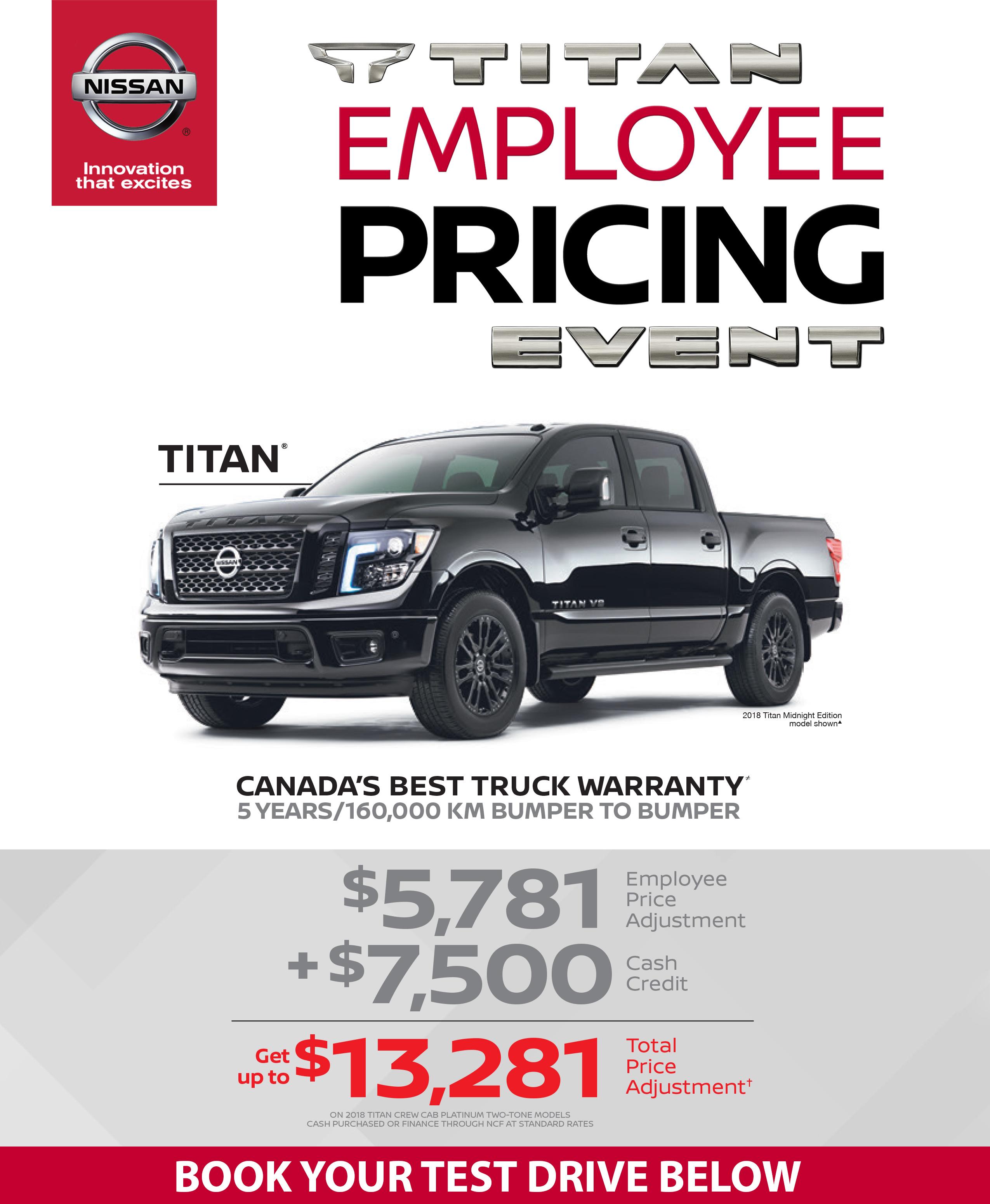 Titan Employee Pricing